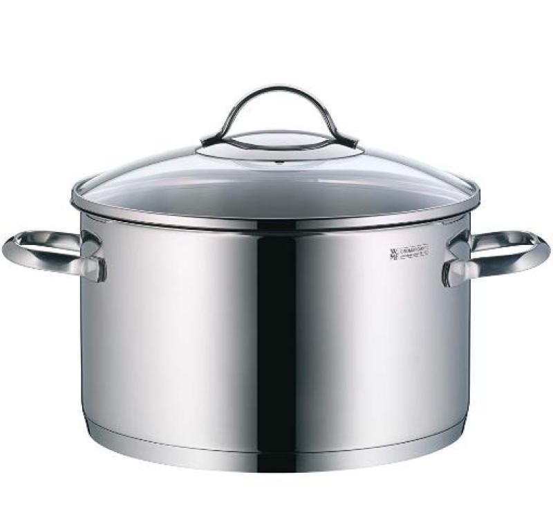 WMF 07-2224-6380 Provence Plus High Casserole 24Cm W/Cover, Stainless Steel, 1kg Singapore