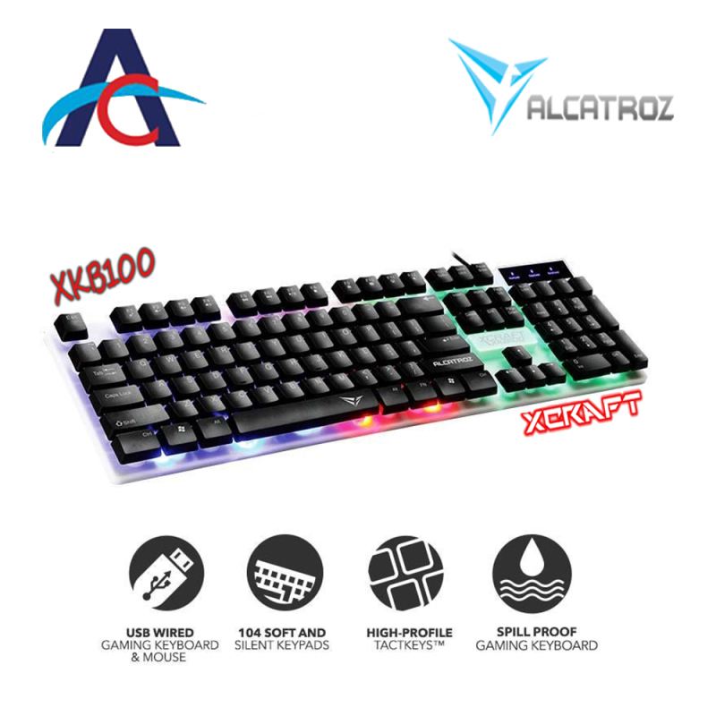 Alcatroz XKB-100 Spill Proof Gaming Keyboard with 9 Backlight Effect Singapore