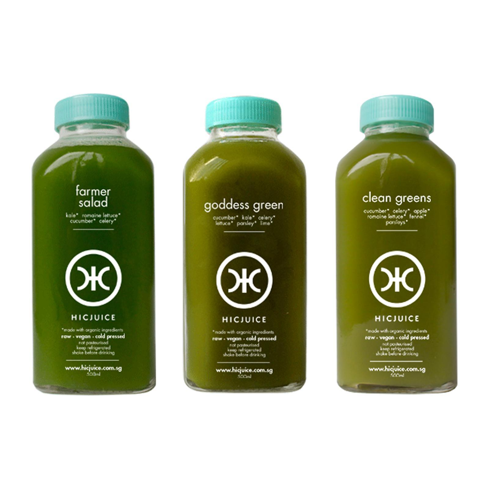 HICJuice Daily Greens Trio Pack