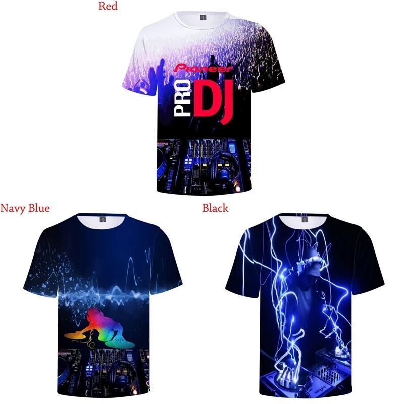 6eca05472c00a New Fashion Pioneer Pro Dj 3d T-shirt Printed Round Neck Short Sleeve Men  Women
