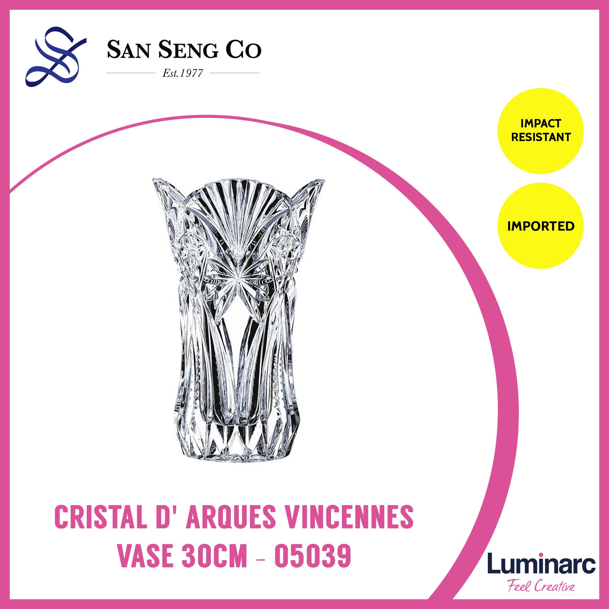 San Seng Luminarc Cristal D Arques Vincennes Vase 30CM - 05039 creative living room water culture glass vase transparent flower elegant modern flower vase