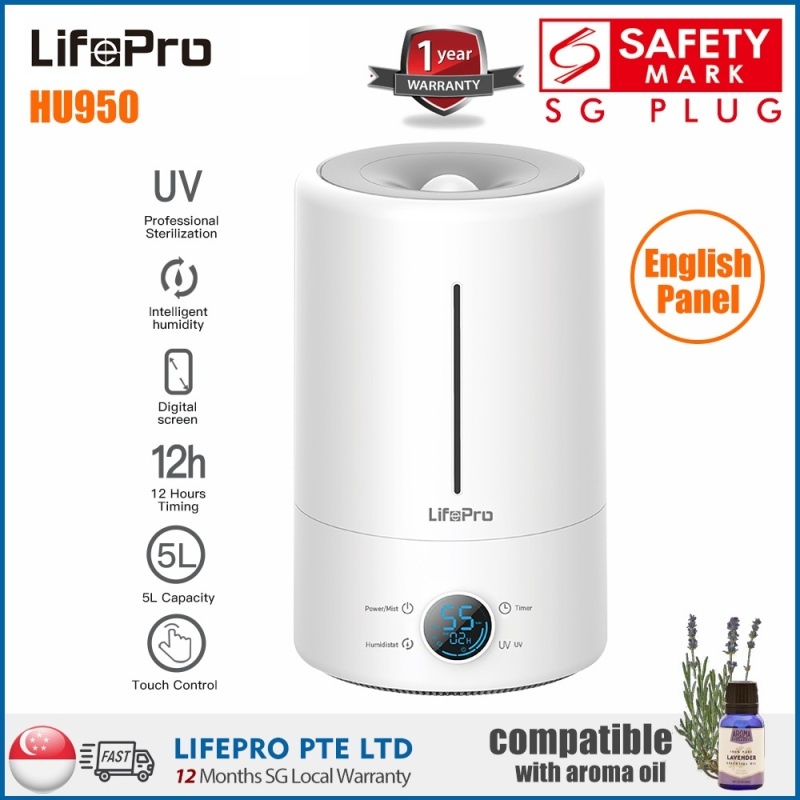 LifePro HU950 5L Humidifier (English Version of Deerma F628S with SG High Quality Standard)/ SG Plug/ 1 Year Warranty Singapore
