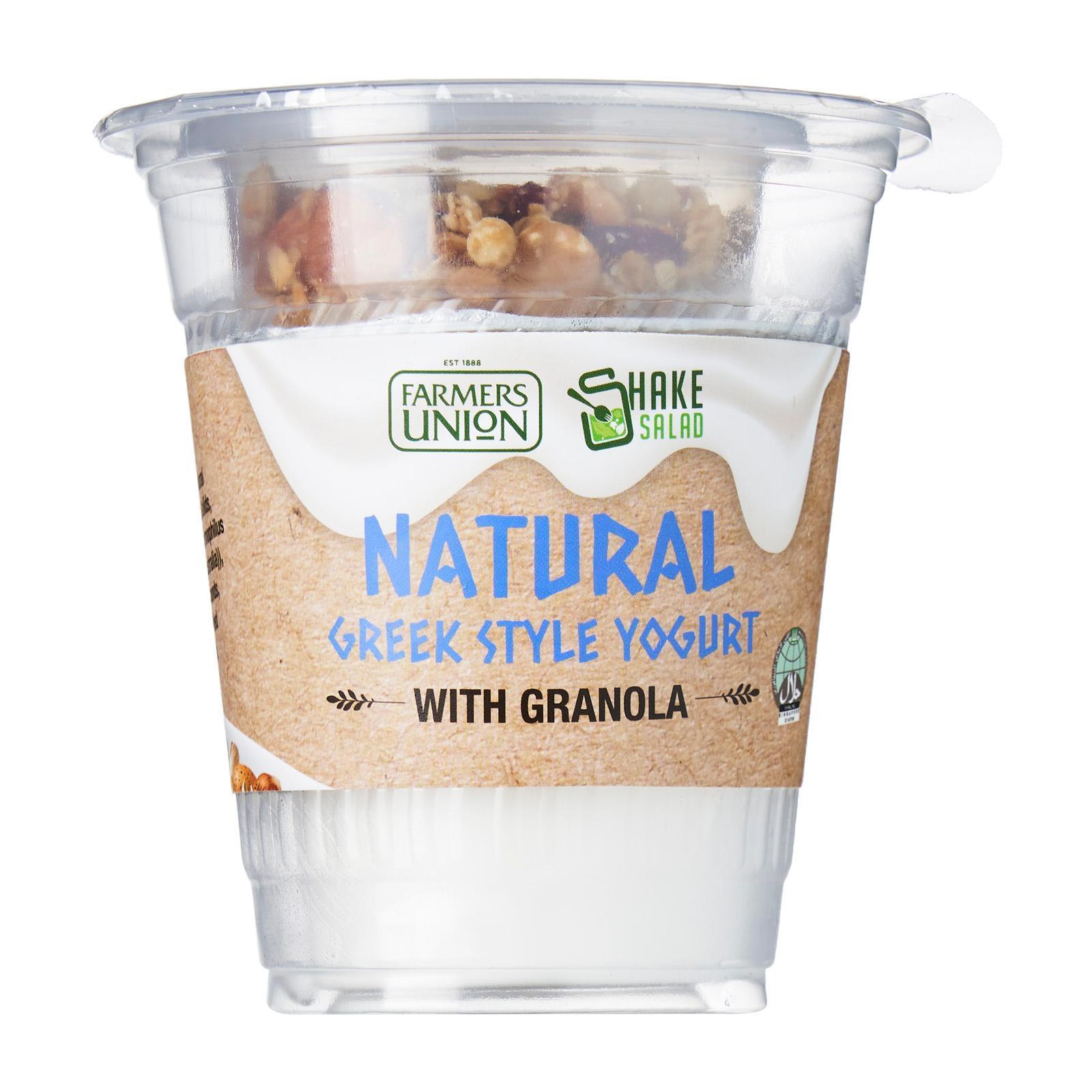 Shake Salad Farmers Union Natural Greek Yogurt With Granola