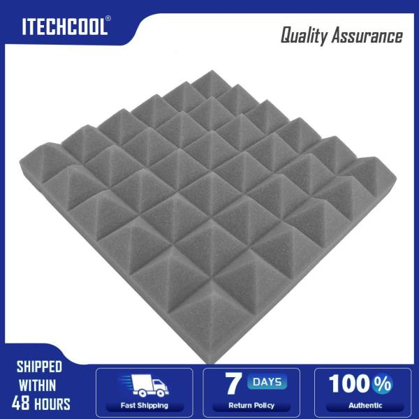 10pcs Acoustic Wall Panels Soundproofing Foam Pads Studio Room Sound Treatment Singapore