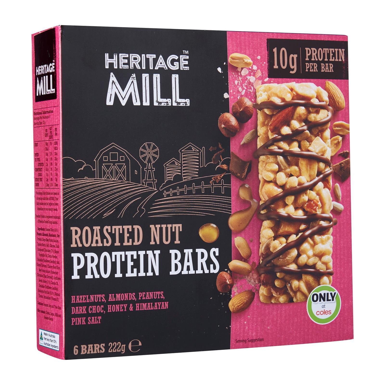 Freedom Foods Heritage Mill Roasted Nut Protein Bars
