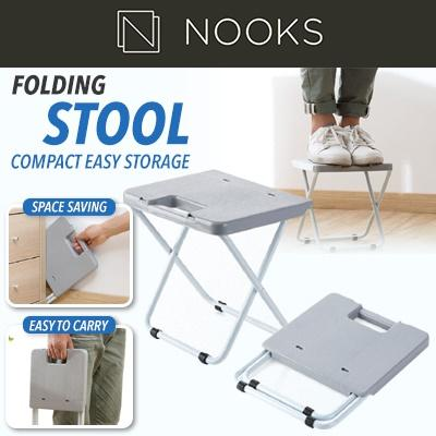 Folding Stool - Compact Easy Storage  Chair  Foldable  Kitchen Dining Outdoor Fishing