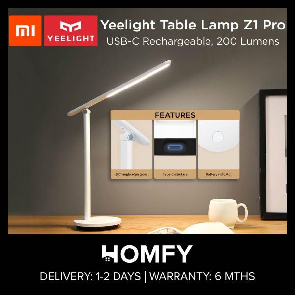 Xiaomi Yeelight Z1 Pro Table Lamp, Folding LED Desk Lamp, USB-C Rechargeable, 200 Lumens, Built-in 2500mAh Battery, 40 Hours Standby - YLTD14YL