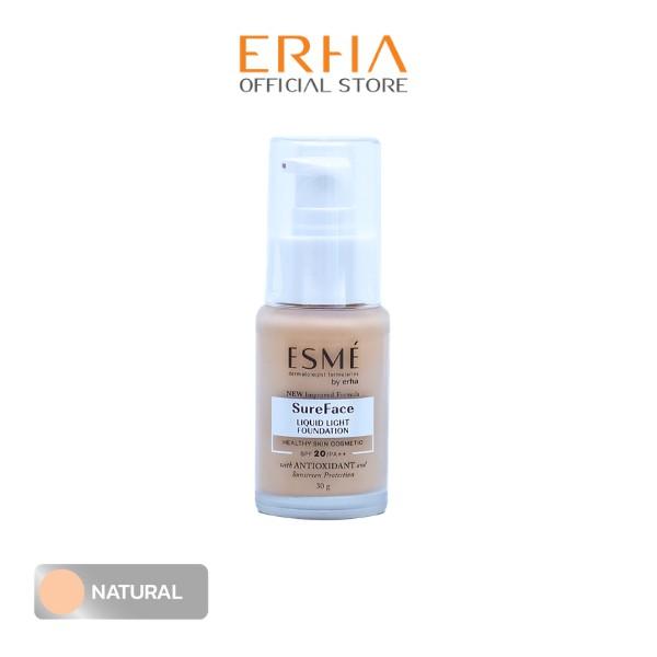 Buy ESME Sureface Liquid Foundation SPF20/PA++ Natural - Face Foundation - 30 g Singapore