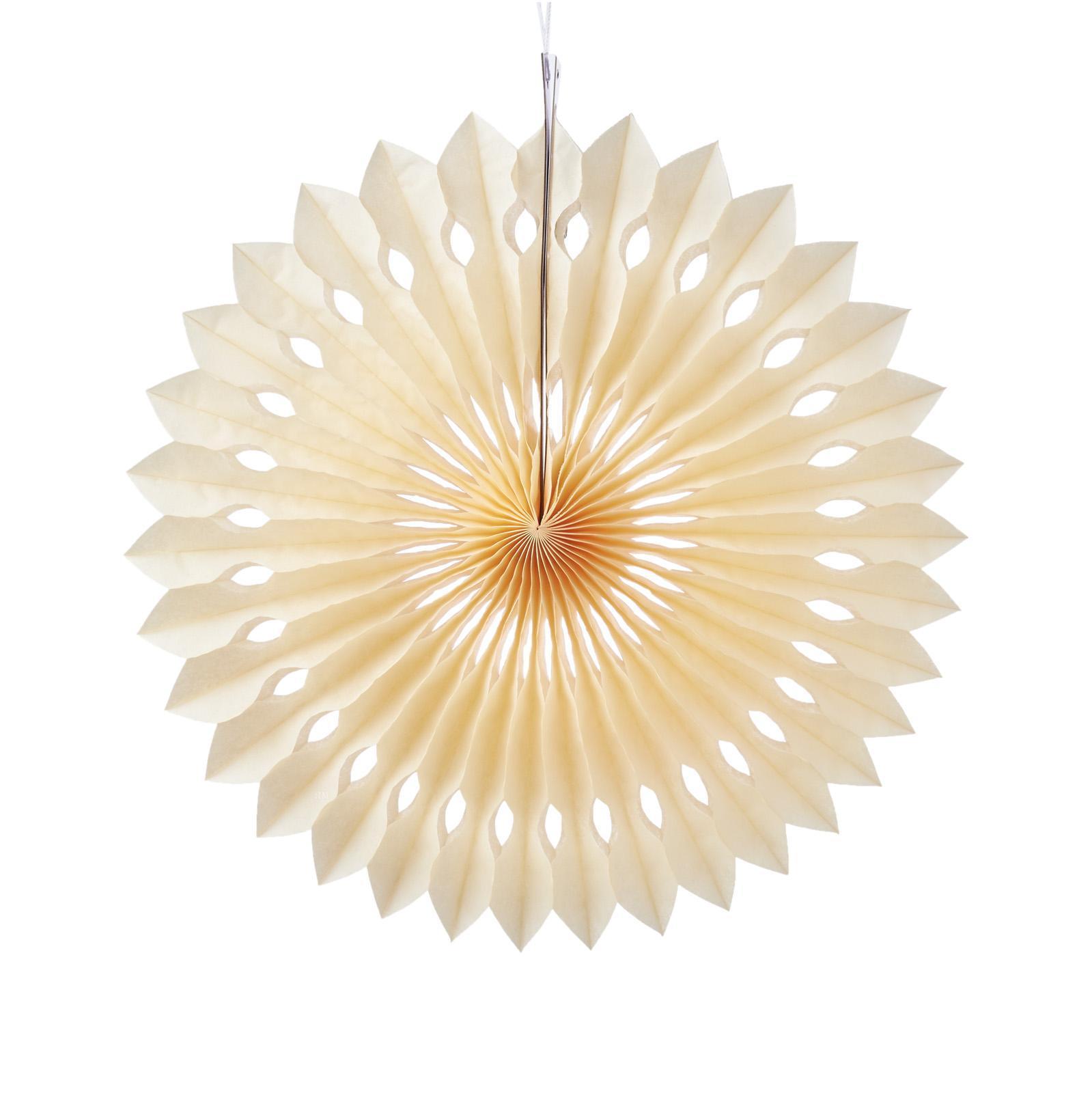 Misty Daydream Pinwheel Paper Flower Fans (02 - Ivory)(Medium 30cm)(Cut-Out)