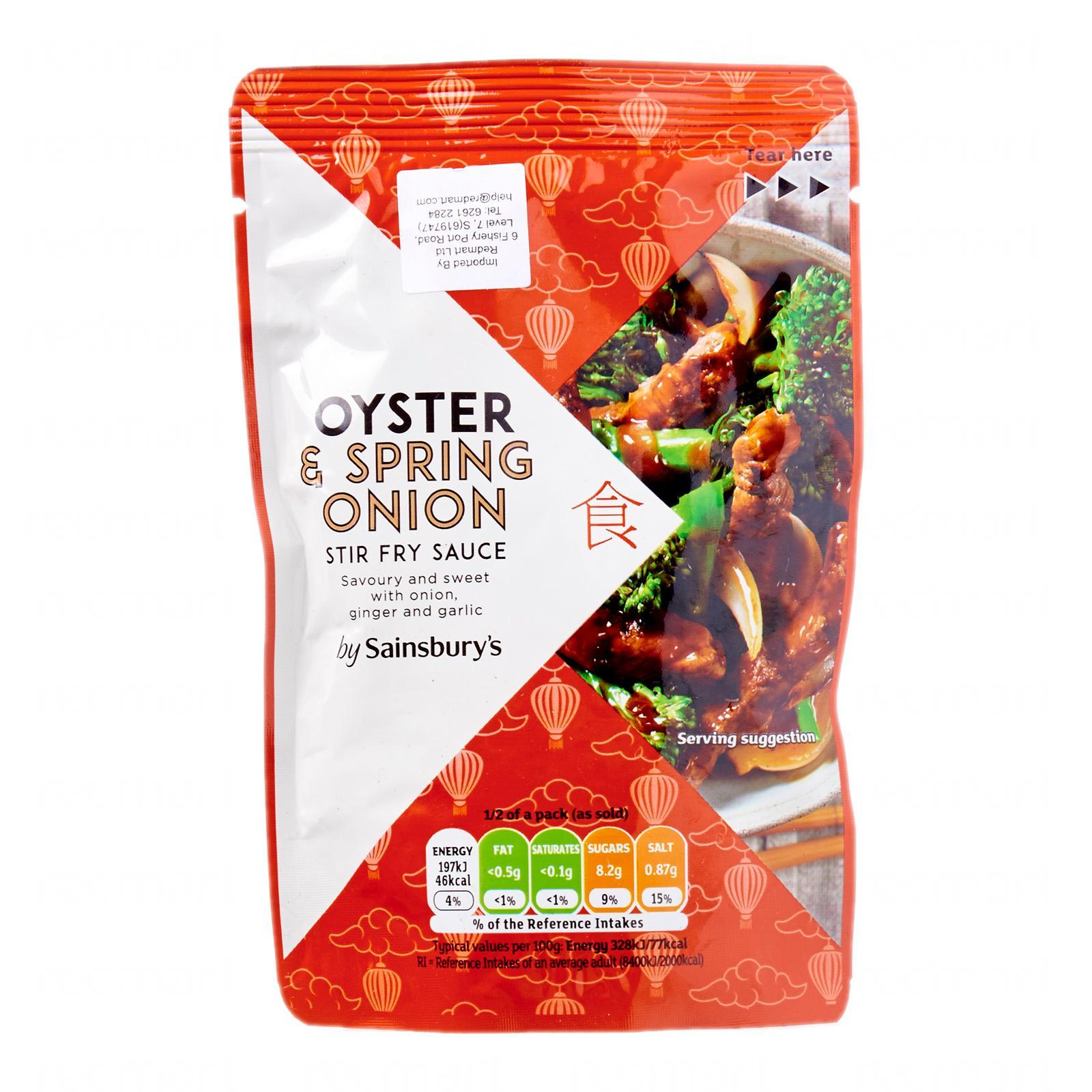 Sainsbury's Oyster And Spring Onion Stir Fry Sauce