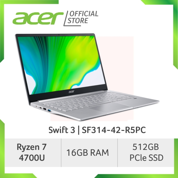 Acer Swift 3 SF314-42-R5PC Thin and Light Laptop with Ryzen 7 4700U Processor and 16GB RAM