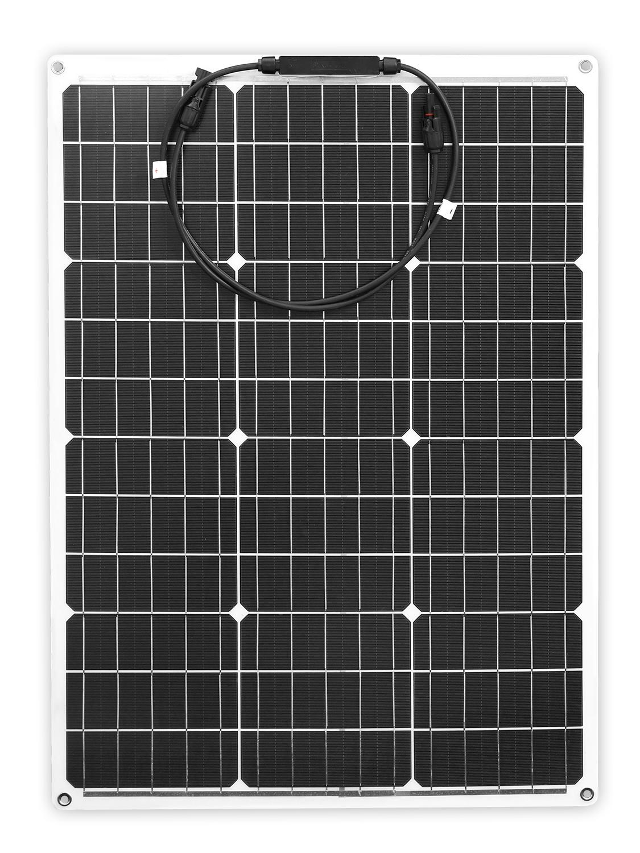 DOKIO Brand 50W 18V Flexible Solar Panel China + 10A 12V/24V Controller 50 Watt Flexible Panels Solar Car/Boat Charger