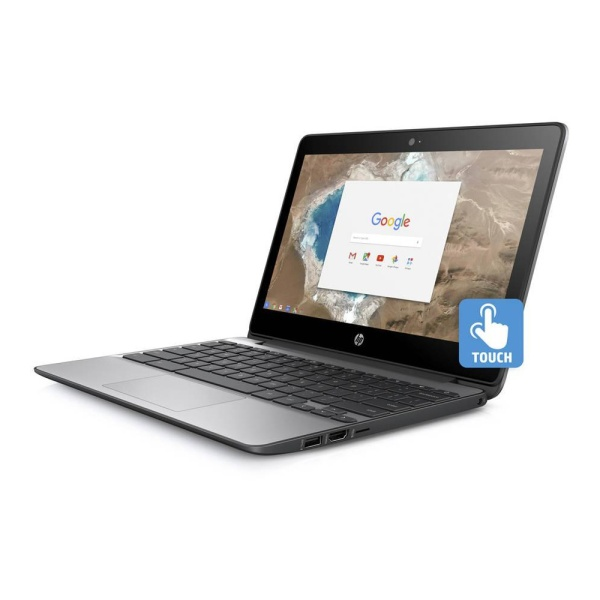 New model  2020  school connect  In-build Webcam HP 11-v020wm Chromebook 11.6 inch Touchscreen Celeron N3060 1.6GHz 4GB RAM Choose 16GB  or 128GB eMMc Chrome OS Ash Grey ,1 year warranty in Singapore ,wireless mouse and laptop bag