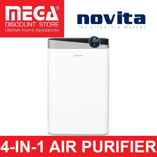 NOVITA A4S 4-IN-1 AIR PURIFIER & 2 BOTTLES OF SOLUTION Singapore