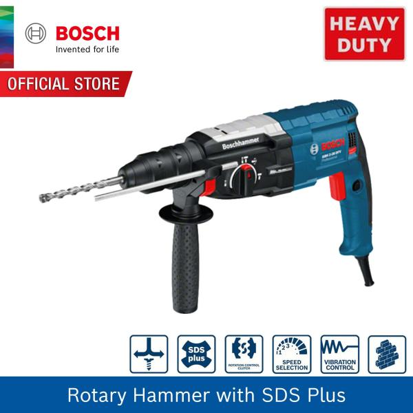 Bosch Rotary Hammer with SDS-plus GBH 2-28 DFV (Rated input power 850W,Weight 3.1kg)