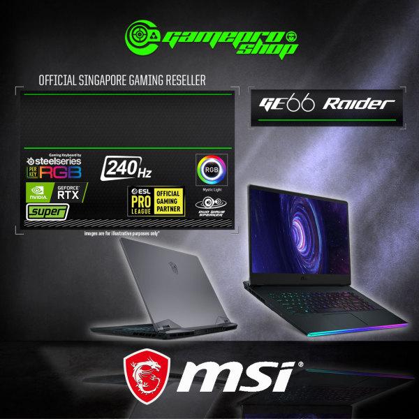 [Express Delivery] MSI GE66 Raider 10SGS Gaming Laptop (I7-10750H/32GB DDR4/2TB SSD/8GB NVIDIA RTX 2080 Super GDDR6 /15.6FHD 240Hz /W10P) - 10SGS-098 (2Y)