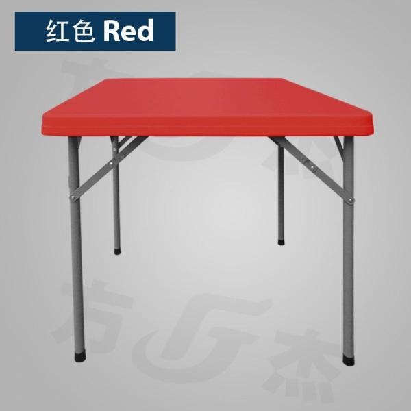 Square Sturdy Heavy Duty HDPE Folding Portable Foldable Table - 86 x 86cm