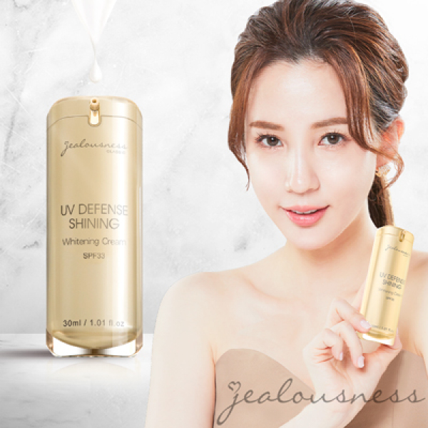 Buy 【FREE COURIER】*BUY $60 GET DISCOUNT* NEW ARRIVAL - Jealousness UV Defense Shinning Whitening Cream SPF33 閃閃發光防曬素顏霜SPF33 30ml Singapore