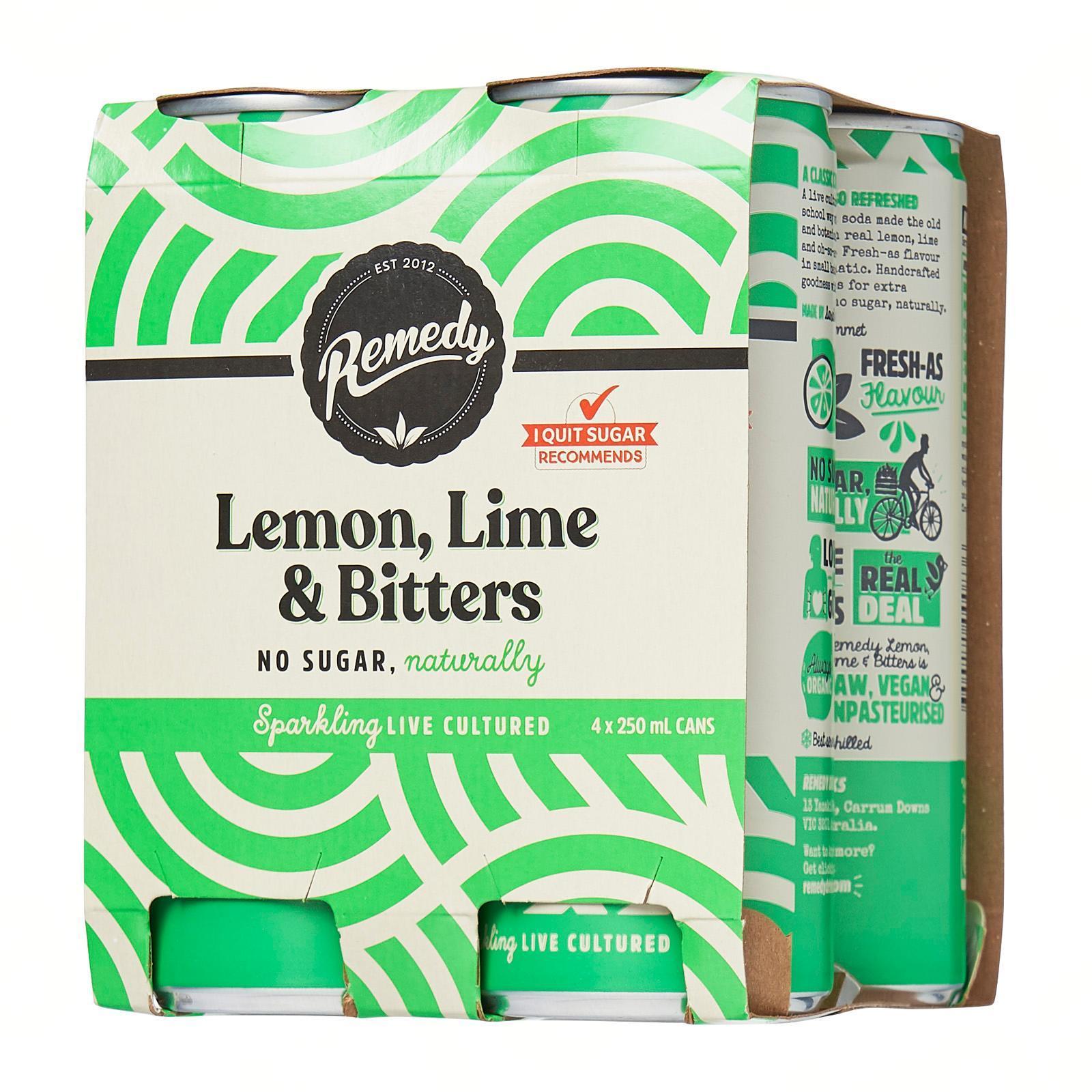 Remedy Organic Kombucha Lemon Lime and Bitters