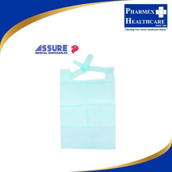 Buy ASSURE Disposable Adult Bibs with 15cm pocket, 40cm x 60cm, 100pcs/pkt - Pharmex Healthcare Singapore