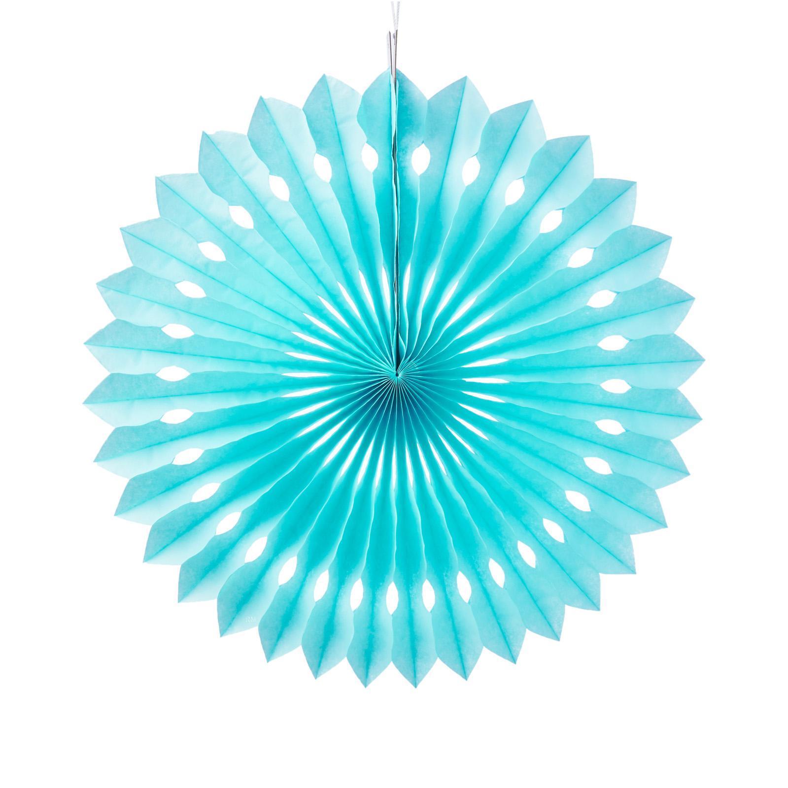 Misty Daydream Pinwheel Paper Flower Fans (Cut-Out)(Medium 30cm)(13 - Light Blue)