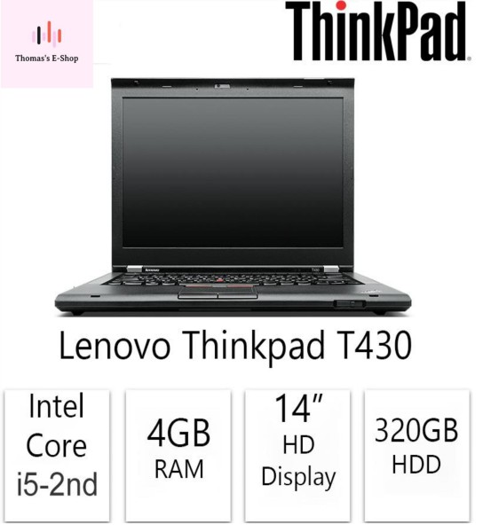 3 Days Delivery [Refurbished] LENOVO THINKPAD T430 Core i5 Business Laptop Core i5 4GB Ram 320 HDDDD