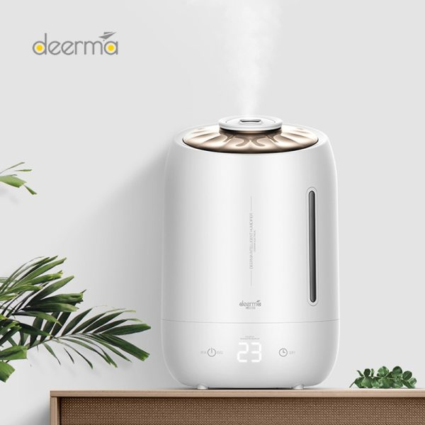 Original Deerma Household Humidifier Purifying Mist Maker Timing With Intelligent Touch Screen Adjustable Fog Quantity Diffuser Singapore