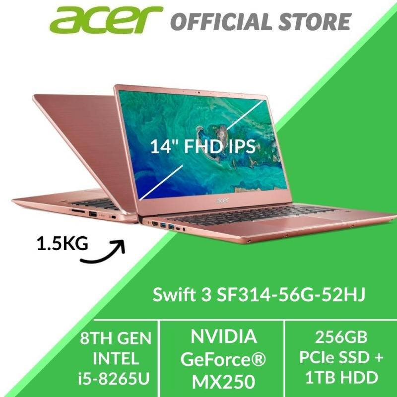 Acer Swift 3 SF314-56G-52HJ Thin and Light Laptop (PINK) - Intel i5 Processot with NVIDIA GeForce MX250