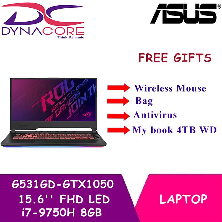 DYNACORE - Asus ROG-Strix-G Notebook G531GD-GTX1050 (15.6 FHD LED (1920x1080) / i7-9750H Processor 2.6GHz (12M Cache, up to 4.5GHz) 8GB DDR4 / PCIE NVME 512G M.2 SSD / NVIDIA GeForce GTX 1050 )