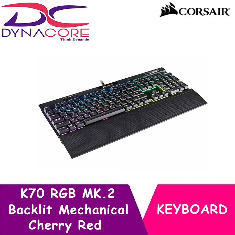 DYNACORE - Corsair K70 RGB MK.2 Backlit Mechanical Keyboard (Cherry Red) Singapore