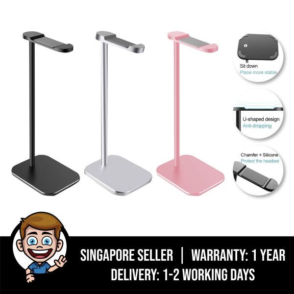 Premium Aluminum Headphone Stand Holder, Universal Aluminium Alloy Gaming Headset earphone Holder Table Desk Display Rack Hanger Organiser Support For All Headphone Sizes Singapore