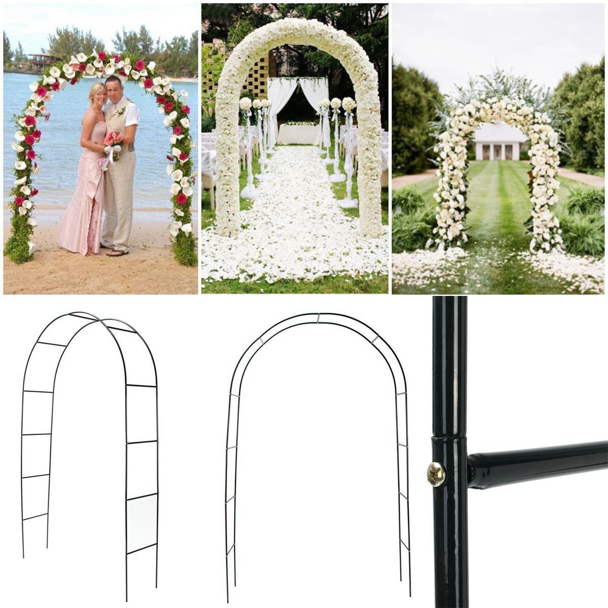 95 Iron Arch Way Assemble Door Wedding Party Bridal Prom Garden Floral Decor
