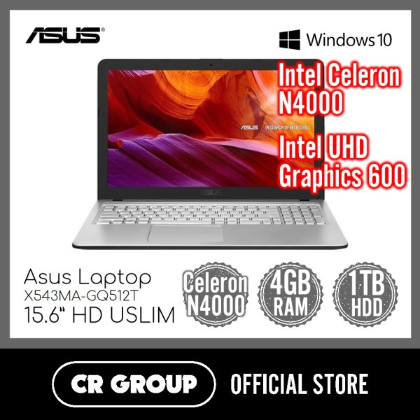 [Same Day Delivery] Asus Laptop X543MA-GQ512T 15.6 Inch | Intel Celeron N4000 | 4GB DDR4 RAM | 1TB HDD | Intel UHD Graphics 600