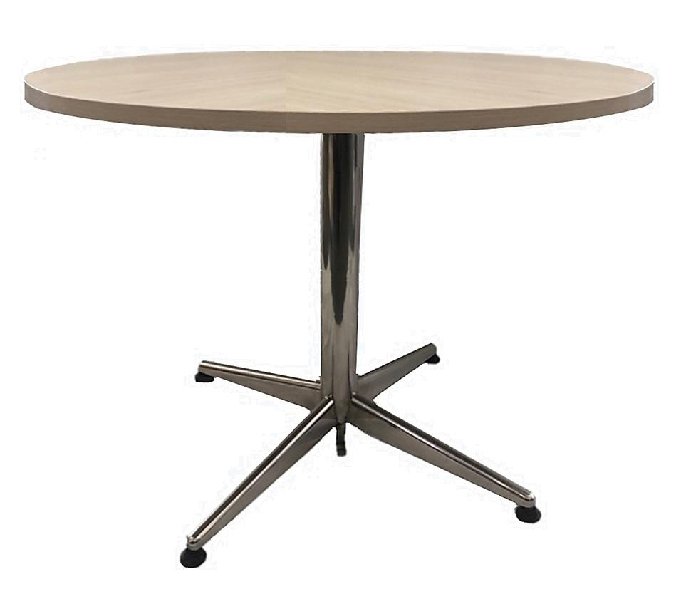 Sheldon Round Cafe/Dining Table - Silver Snow
