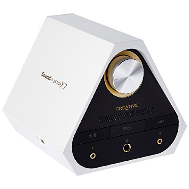Creative Sound Blaster X7 White 127dB, 24-bit 192kHz High-Res External USB DAC and 100W Audio Amplifier for TV, PC, Mac. Dolby Digital, Bluetooth with aptX Low Latency, AAC, Optical, RCA in/Out Singapore