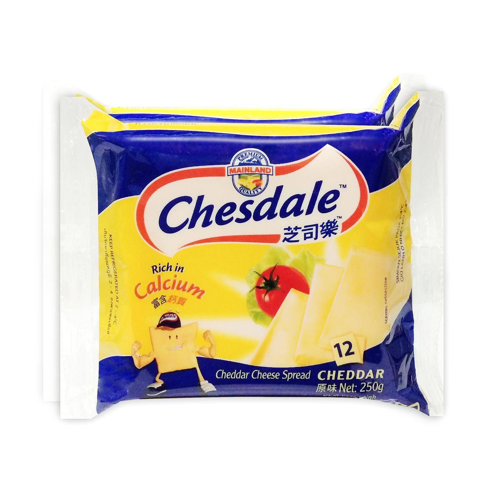 Chesdale Protein 12 Cheddar Cheese Slices (2x250G)