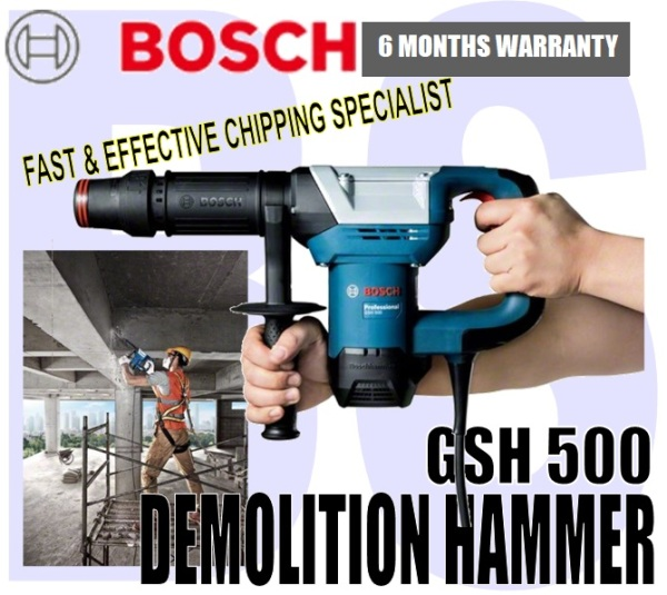 BANSOON BOSCH GSH 500 Professional Demolition hammer / Breaker with Hex. fast and effective chipping specialist. 1100W.