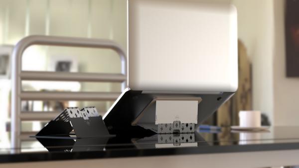 HAILSTORM Mini Laptop Stand - Slimmest in the World, Stable, Adjustable, Erogonomic Laptop Stand for 10-17 Inch MacBook Pro Air Deskstop Notebook