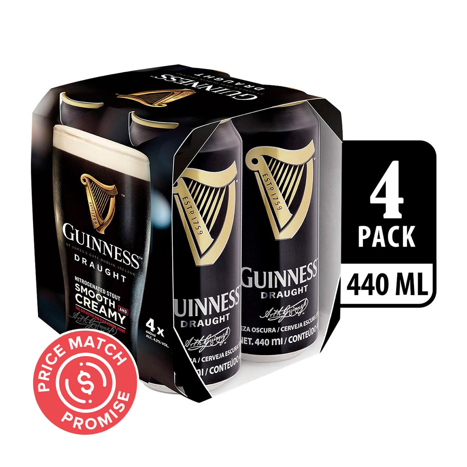 Guinness Draught Stout Can 4x440ml