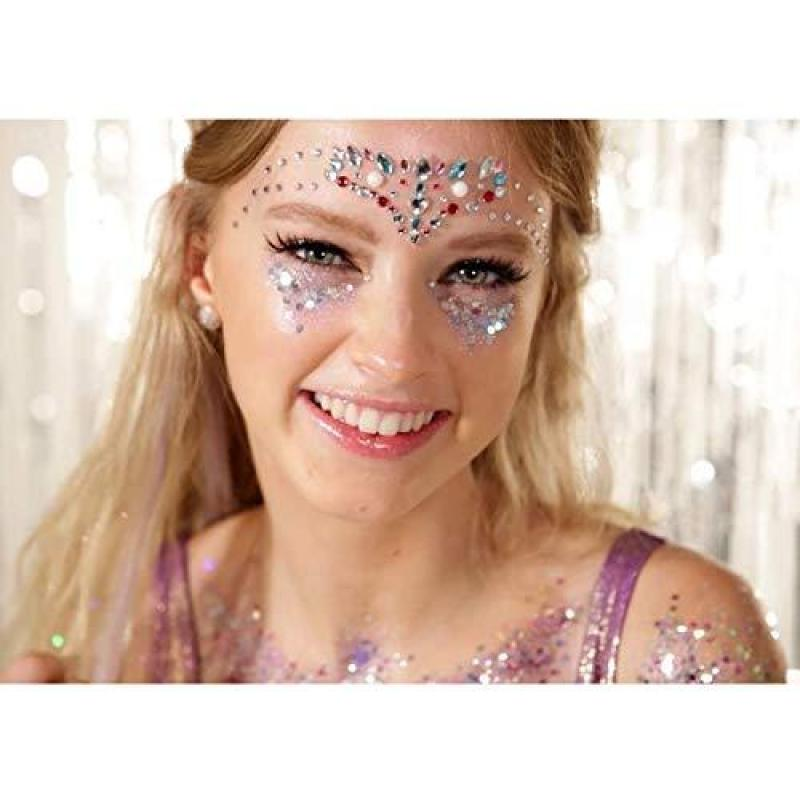 Buy Holographic Chunky Body Glitters Set - 6 Jars iMethod Cosmetic Glitters Flakes, for Festival Face Makeup, Body, Hair, Nail and other Occasions Singapore