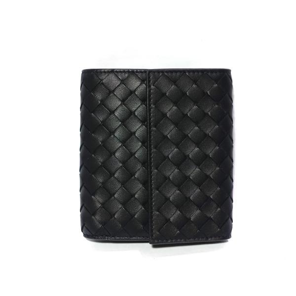 Bottega Veneta Short Continental Wallet in Black