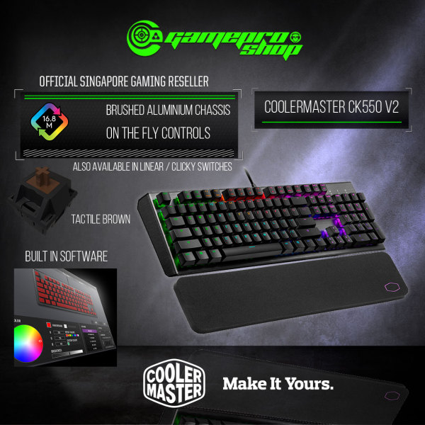 CoolerMaster CK550 V2 RGB Mechanical Gaming Keyboard  (2Y) Singapore