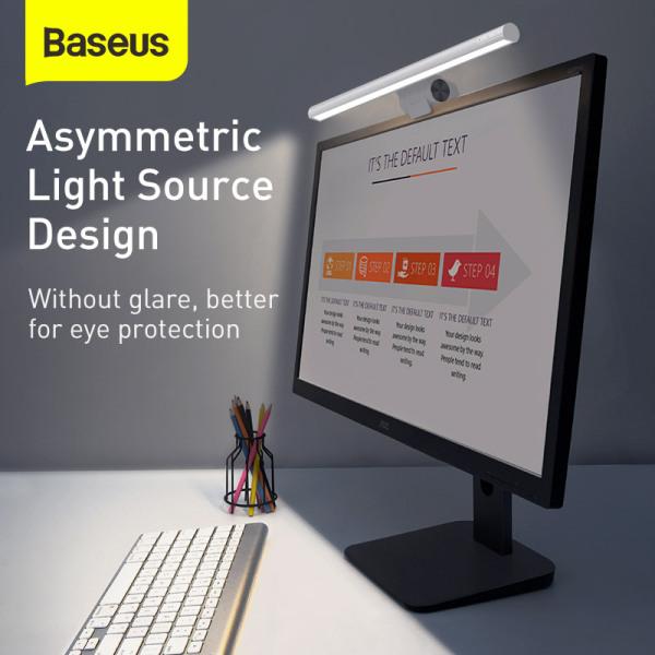 Baseus i-wok Series USB Asymmetric Light Source Computer Monitor LED Screen Hanging Light Dimmable Desk Study Reading Lamp