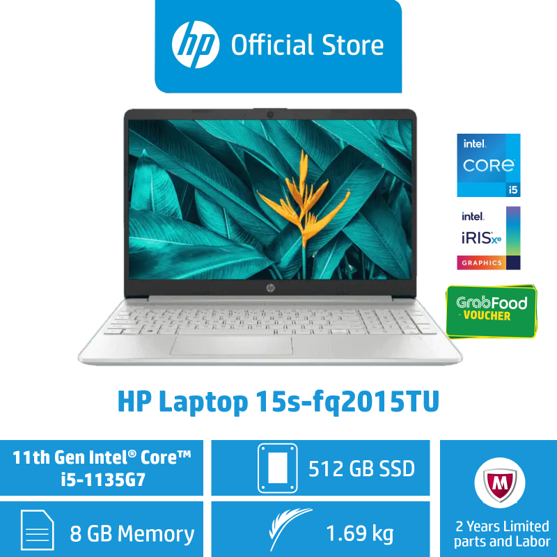 [Preorder] HP Laptop 15s-fq1013TU - 10th Gen i5 / 15s-fq2024TU - 11th Gen i7/ 15s-fq2015TU - 11th Gen i5 / 8GB RAM / 512GB SSD / Win 10 / Sleek, Thin, Light & Portable / Long Battery Life [Ship by Jan 10]