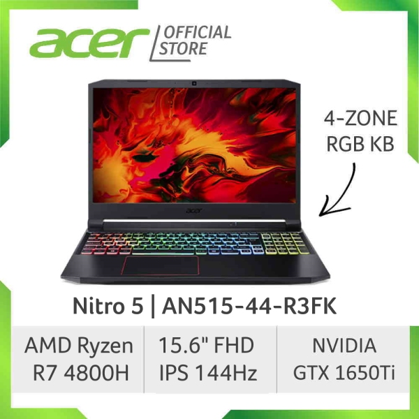 Acer Nitro 5 AN515-44-R3FK NEW 144Hz Refresh Rate Gaming laptop with AMD Ryzen 7- 4800H processor and NVIDIA GTX1650Ti Graphics [SEPT 2020 MODEL]