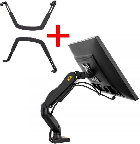 Monitor Arm Adapter Set - NB North Bayou Desk Mount Stand Full Motion for 17 to 30in Monitor from 4.4 to 19.8lbs