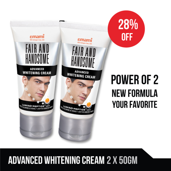 Buy [Pack of 2] Emami Advanced Men Whitening Cream 50 gm each, Fair and Handsome Singapore