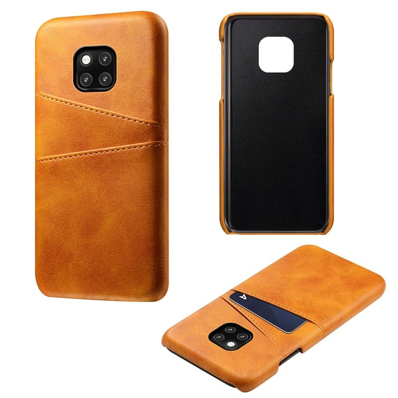 Phone Case for Huawei Mate 20 Pro Back Case Calf Grain PU Leather TPU Phone Case