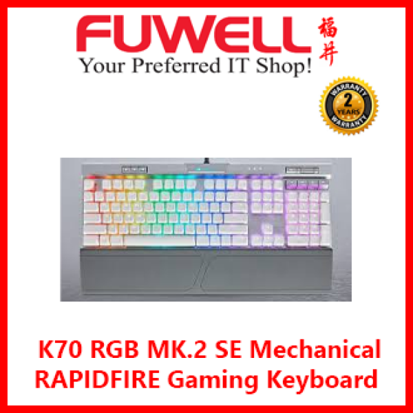 CORSAIR K70 RGB MK.2 SE RAPIDFIRE Mechanical Gaming Keyboard - Cherry MX Speed RGB Singapore