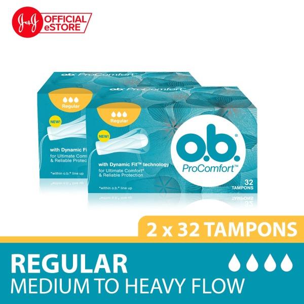 Buy o.b. Tampon Procomfort Regular 32s x2pcs Singapore